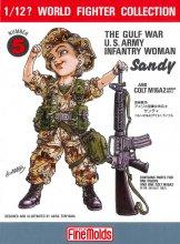 1/12?スケール アメリカ陸軍女性兵士(湾岸戦争) サンディ / コルトM16A2