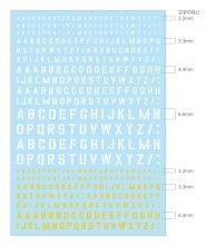 トラディショナル アルファベットデカール #1 TRADITIONAL ALPHABET DECAL EIGHT