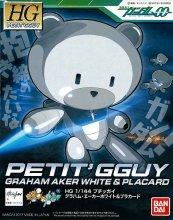 HGPG 1/144 プチッガイ グラハム・エーカーホワイト&プラカード