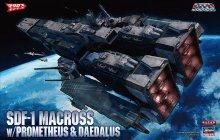 1/4000 SDF-1 マクロス要塞艦 w/プロメテウス&ダイダロス