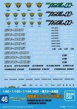 No.46 機動戦士ガンダム00(ダブルオー)用 � 1/60・1/100(MG)・1/144(HG) ガンダムデカール