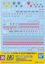 No.38 1/144 HGUC ジオン軍MS用(3)ガンダムデカール