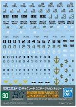 <img class='new_mark_img1' src='https://img.shop-pro.jp/img/new/icons33.gif' style='border:none;display:inline;margin:0px;padding:0px;width:auto;' />No.30 HGUC 地球連邦軍MS用 (1) アナハイム・エレクトロニクス社製MSデカール ガンダムデカール