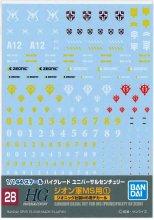 No.28 1/144 HGUC ジオン軍MS用 (1) ジオニック社製MSデカール ガンダムデカール