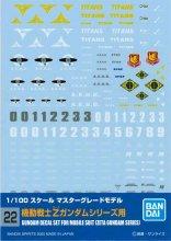 No.22 1/100 MG 機動戦士Zガンダムシリーズ用 ガンダムデカール
