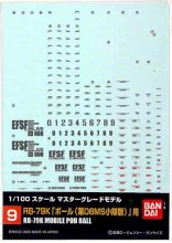 No.09 1/100 MG ボール 第08MS小隊版用 ガンダムデカール
