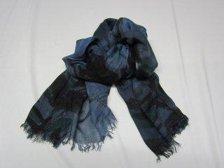 藍染スカーフ 夏用 柄入り