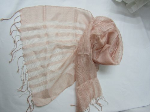 W010-02  シルクストール ピンク白ライン