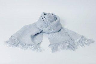 S003-07  反射糸 手織りシルクストール(ショート)(ブルーグレー)