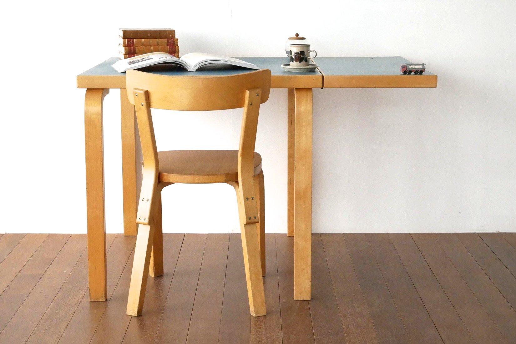 折りたたみテーブル アルヴァ・アアルト ターコイズブルー【1803-0022】
