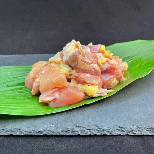 【至福】黒さつま鶏 味付きカット肉5P(アウトドア・BBQ・おうち焼肉用)の商品画像