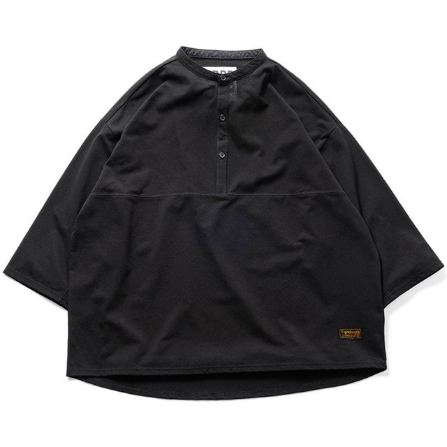 TIGHTBOOTH / KANOKO BAND COLLAR T-SHIRT BLACK