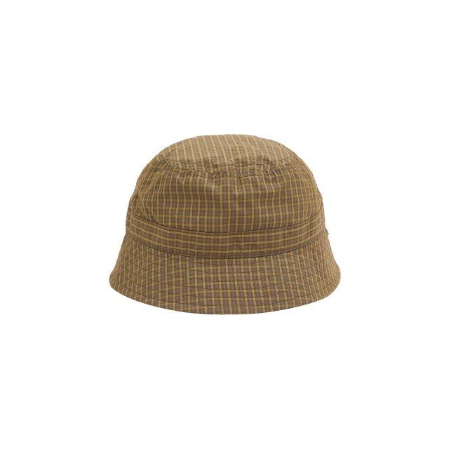 WHIMSY / PLAID CORDURA NYLON HAT BROWN