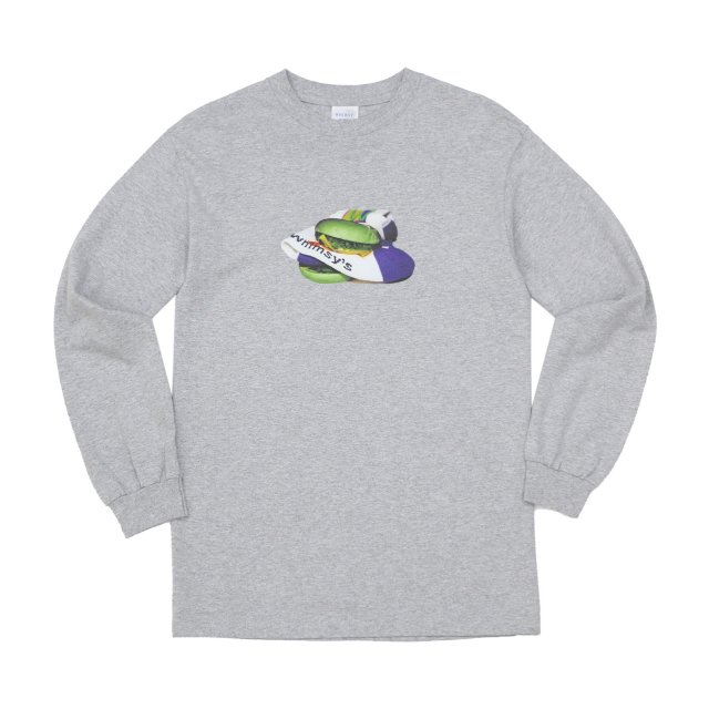 WHIMSY / POISON L/S TEE HEATHER GREY