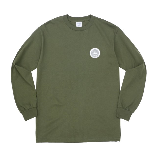 WHIMSY / POISONOUS GAME L/S TEE MILITARY GREEN