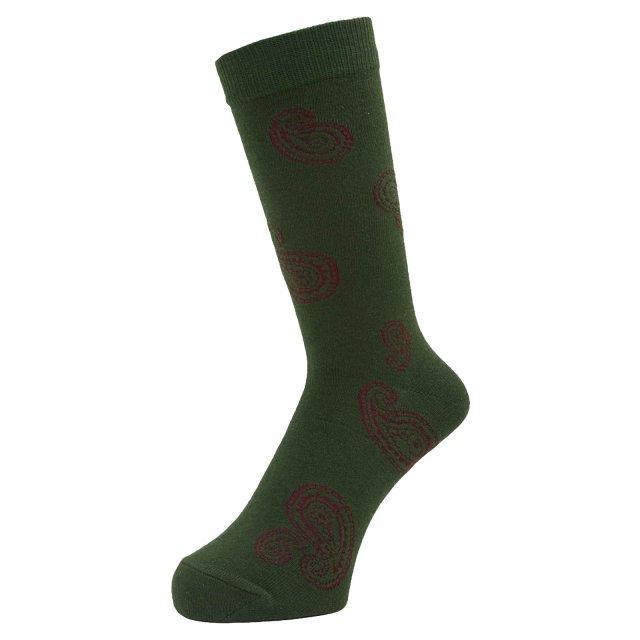 WHIMSY / BIG PAISLEY SOCKS GREEN