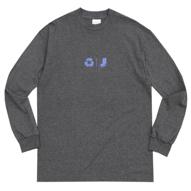 WHIMSY / FRESH DELIVERY L/S TEE CHARCOAL HEATHER
