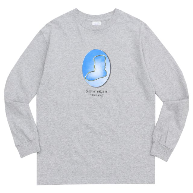 WHIMSY / YEAR BOOK L/S TEE HEATHER GREY
