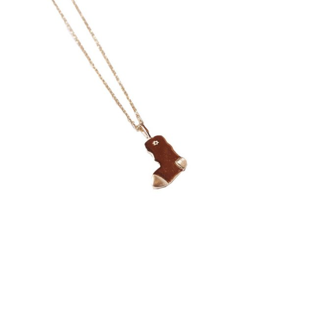 WHIMSY / 14K TRADE MARK GOLD KNECKLACE