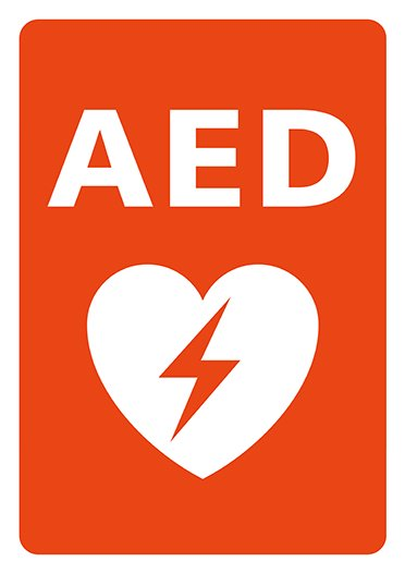 AEDシール A4 Lサイズロゴのみ 片面