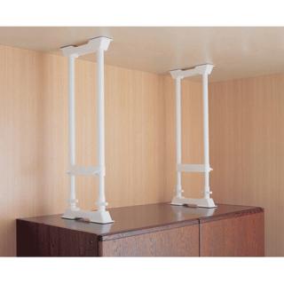 家具転倒防止伸縮棒 H型 L 2本セット(つっぱり棒)