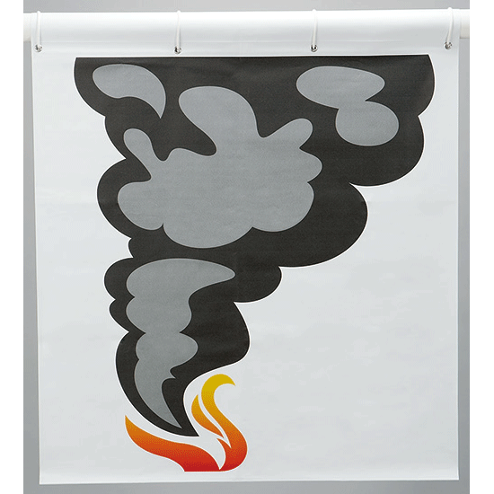 消火訓練用標的 煙