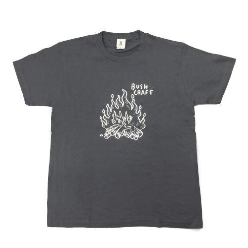 プリント半袖Tシャツ(焚き火)