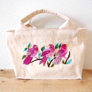 [ネコポス送料無料] ilo itoo 手刺繍のトートバッグ S  canvas 3aves