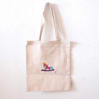 [ネコポス送料無料] ilo itoo 手刺繍の布バッグ S cacatua