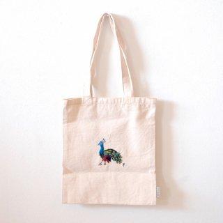 [ネコポス送料無料] ilo itoo 手刺繍の布バッグ S pavoreal