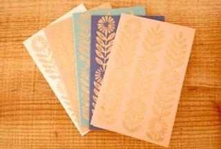 People Tree 手漉き紙の花模様カード 5枚セット