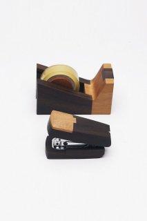 magno SeTO-3 木製ステーショナリー2点セット(ミニステープラー、テープディスペンサー)