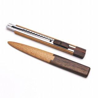 magno SeTO-4  木製ステーショナリー2点セット(カッター、レターオープナー)