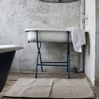 Ajee 洗いざらしのコットンラグ Vintage