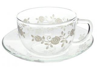『ホワイトローズ』 耐熱カップ&ソーサー