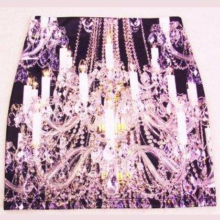 インパクト有るシャンデリのアグラフィックデザイン 転写スカート