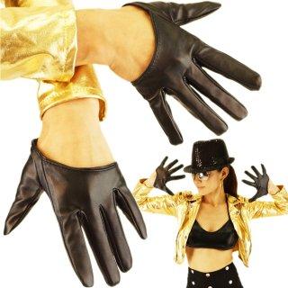 ダンス衣装 合皮レザーハーフグローブ 4色