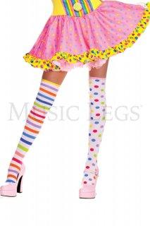 MUSIC LEGS アシンメトリーニーハイソックス