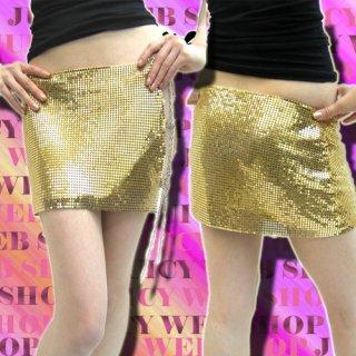 ダンサー!アーティスト!Show GIRLスタイル最高のSEXYメタルミニスカート☆サイドもチェーンのスピンドル