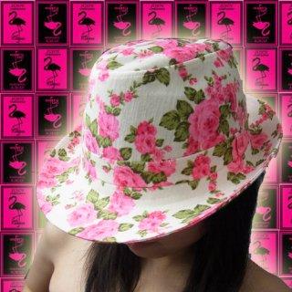 【SALE】花柄中折れハット 帽子