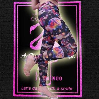 鮮やかなバルーン・気球柄がカワイイ♪メルヘンなレギンス・パンツ☆(ダンサー衣装★ボトム★スパッツ★