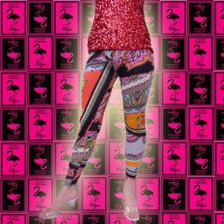 カラフル★チェーンxペイズリー★おしゃれ柄レギンス♪2色どちらもカワイイ柄★レギンス・パンツ