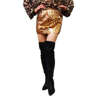 キラキラバブリー衣装スパンコールミニスカート