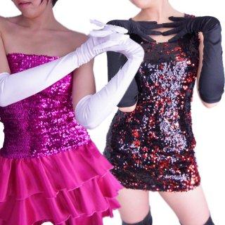 サテン生地がエレガントでカラーもとってもきれい♪サテンカラーロンググローブ!ウエディングパーティー ダンス衣装アイテム