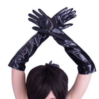 エナメルBLACKが艶めかしい★SEXYロングアームグローブ!イベントやダンサー衣装にもぴったり♪ダンサー衣装 ボンテージ SM衣装