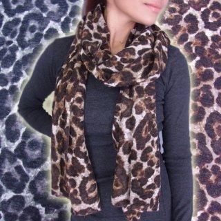 激安BIGサイズで使いやすい♪ヒョウ柄★暖か大判スカーフ・ショール♪ダンサー衣装★スカーフ★ショール