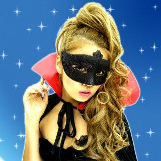 仮面パーティ♪キラキラ☆ラメグリッターマスク!