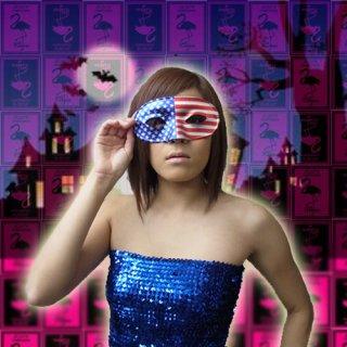 色鮮やかな♪USAフラッグデザイン★アメリカン星条旗マスク!イベントやパーティーにおすすめ♪