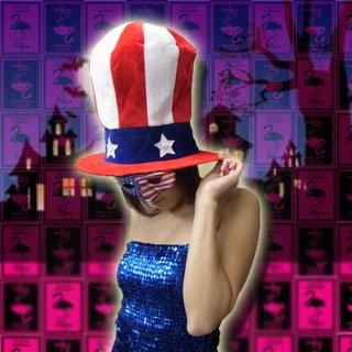 USA星条旗アメリカンビッグハット帽子