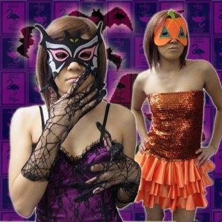 LAで買ってきた楽しい仮面アイテム!マスク4種類♪バット★キャット★パンプキン★フランケン★